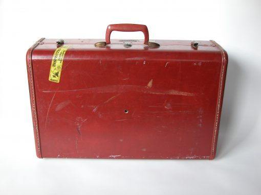#145 Red/Brown Samsonite / San Pablo Motel, Albany, CA