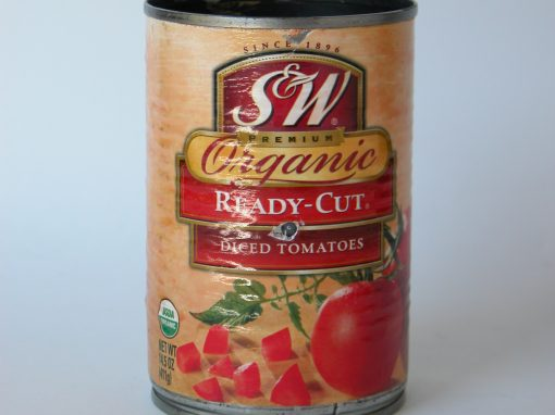 #244 S&W Organic Diced Tomatoes #4