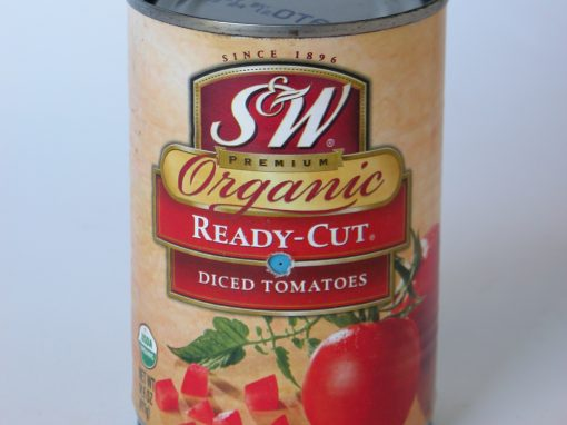 #763 S&W Organic Diced Tomatoes #6