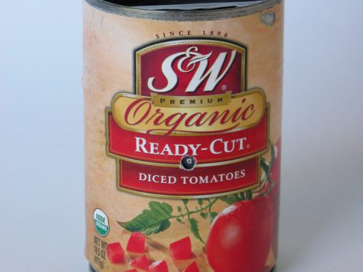 #764 S&W Organic Diced Tomatoes #7