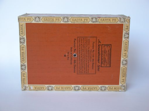 #287 Santa Fe Wooden Cigar Box