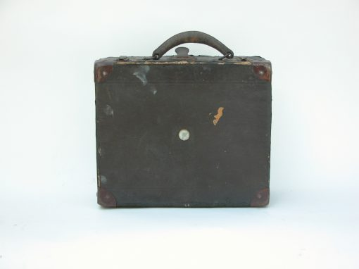 #141 Small Paper Suitcase w/Leather Handle/ Hotel Baldwin, Oakland, CA