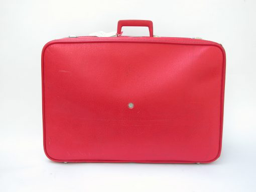 #150 Soft Red Suitcase / Suitcase Camera Installation, San Francisco Artspace, 1990