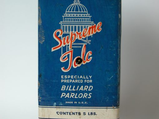 #708 Supreme Talc Especially Prepared For Billiard Parlors