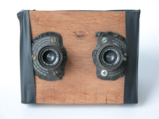 #305 Wooden Stereo Camera with Aerial Lenses