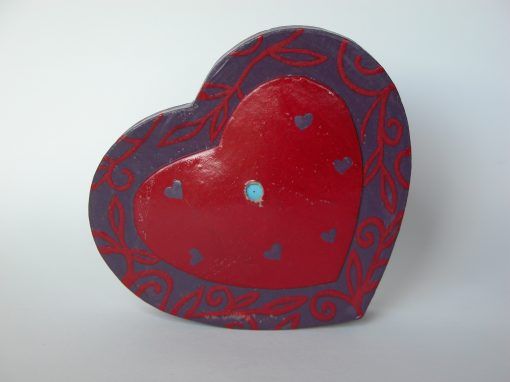 #592 Heart Shaped Paper Box (Joseph Schmidt's Candies)