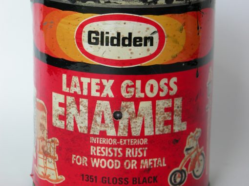 #630 Latex Black Gloss Enamel, 1qt