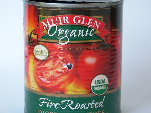 #231 Muir Glen Fire Roasted Sliced Tomatoes #1