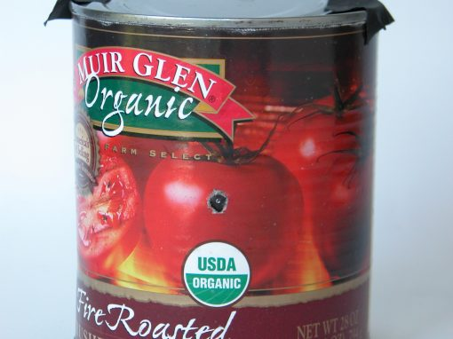 #555 Muir Glen Organic Fire Roasted Tomatoes, #6