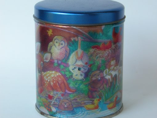 #512 Nocturnal Animal Tin (w/Hanging Opossum)