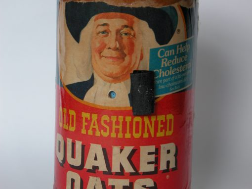 #643 Quaker Oats #3 (older cardboard box w/cardboard top)