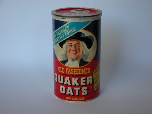 #645 Quaker Oats #5 (cardboard box w/plastic top)