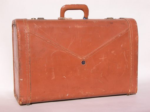 #128 S.R.s Leather Suitcase / Renoir Hotel #1, SF