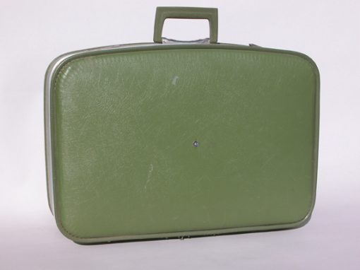 #132 Large, Green Suitcase / Chronicle Hotel #1, SF