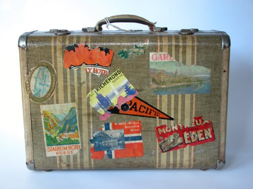 #533 Doug Muir's Traveling Suitcase w/European Decals / Self Portrait w/Columns